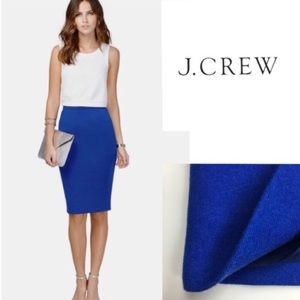 J. Crew cobalt blue wool pencil skirt